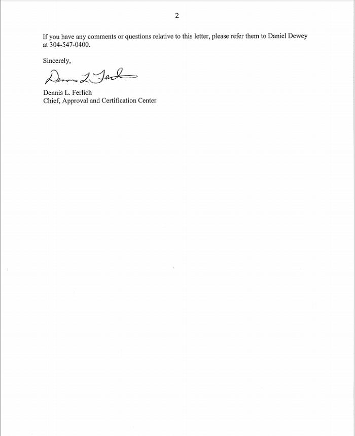 msha certificate msha ic 340 01 2