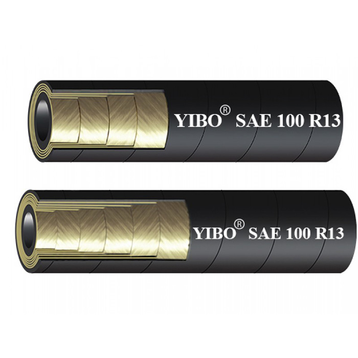 SAE 100R13 MULTIPLE SPIRAL STEEL WIRE REINFORCED HYDRAULIC RUBBER HOSE