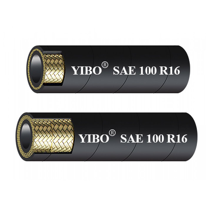 SAE 100R16 COMPACT HIGH PRESSURE WIRE BRAID HYDRAULIC RUBBER HOSE
