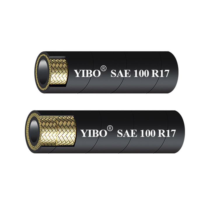 SAE 100R17 21MPA COMPACT WIRE BRAID HYDRAULIC RUBER HOSE