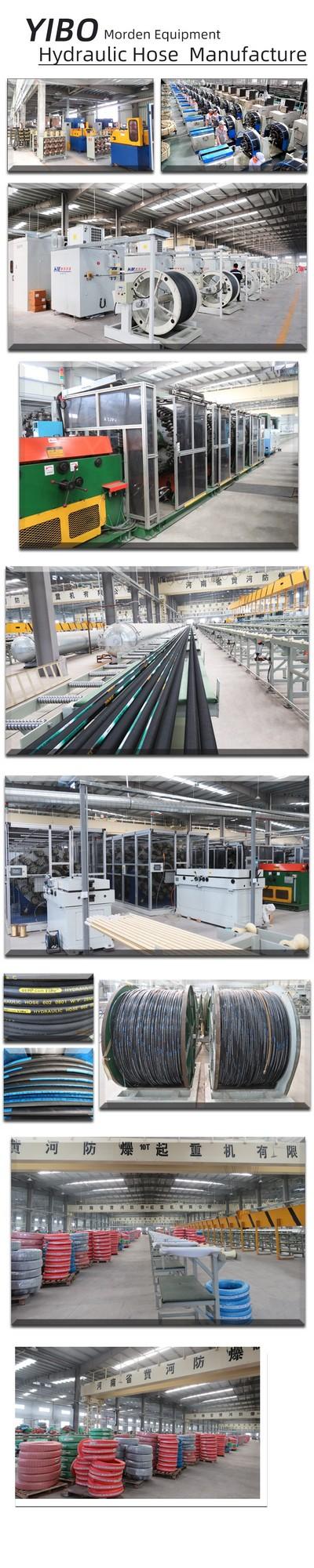 sae 100r17 21mpa wire braid hydraulic ruber hose 5